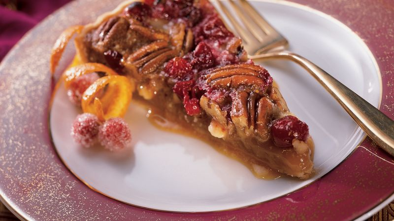 White Chocolate-Cranberry-Pecan Tart