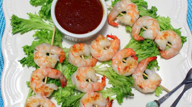 Shrimp Kebabs with Mango Chipotle Sauce