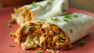Crunchy Chicken Burritos