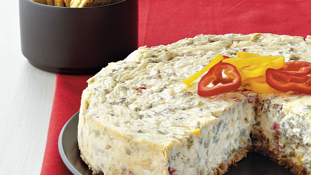 Sausage and Pepper Cheesecake