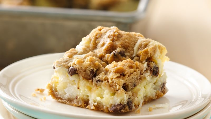 Chocolate Chip Cheesecake Bars (cookie dough tub)