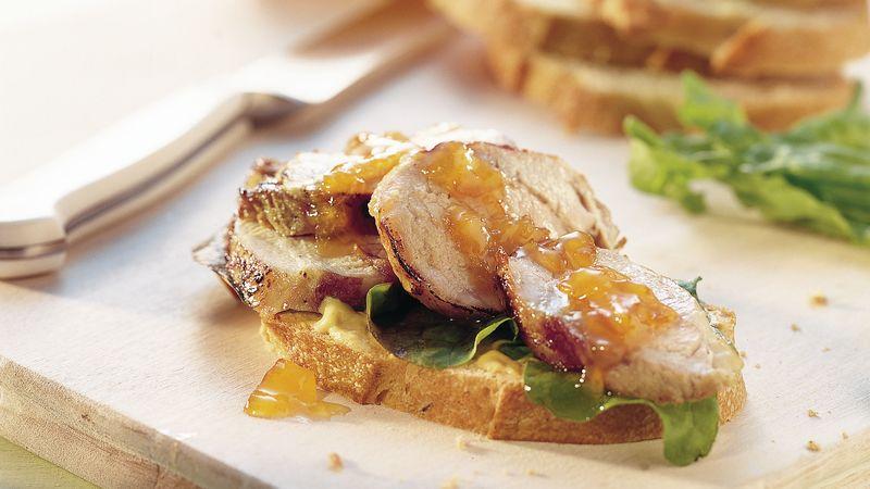 Grilled Pork Tenderloin Sandwiches
