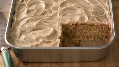 Zucchini Cake with Cinnamon Cream Cheese Frosting