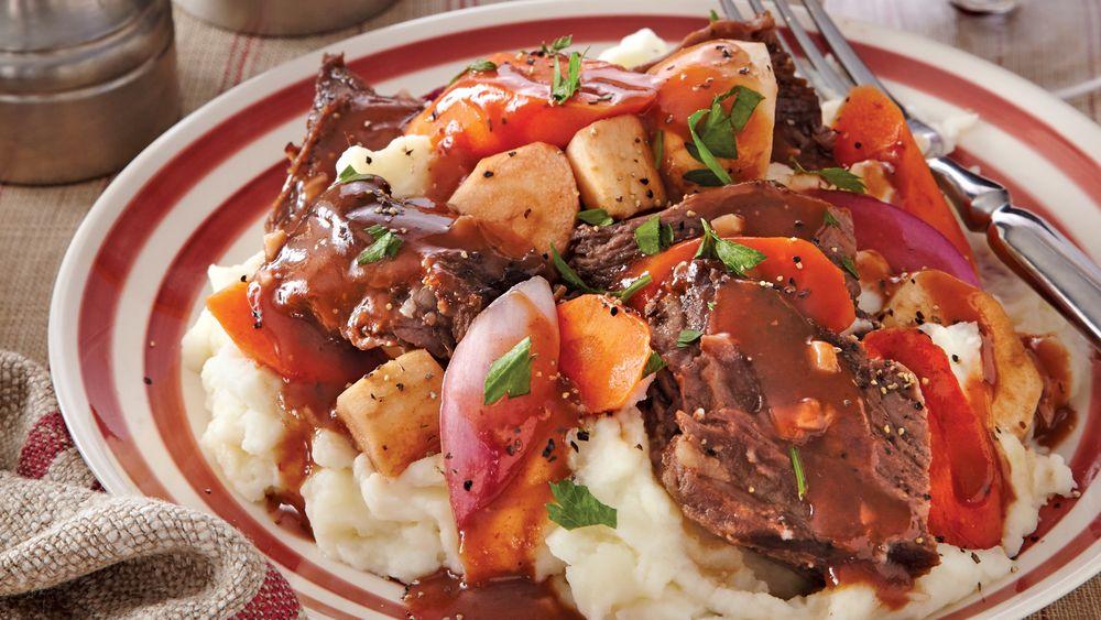 Slow-Cooker Root Vegetable Pot Roast recipe from Pillsbury.com