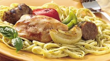 Grilled Chicken with Sweet Onions