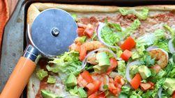 Taco Pizza with Shrimp