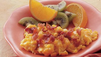 Corny Eggs with Bacon