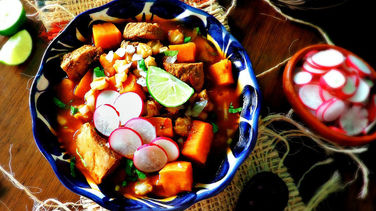 Pork and Sweet Potato Pozole