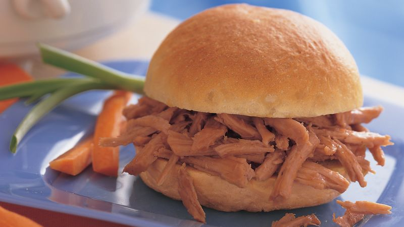 Slow-Cooker Spicy Molasses Pulled-Pork Sandwiches