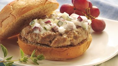 Greek Turkey Burgers