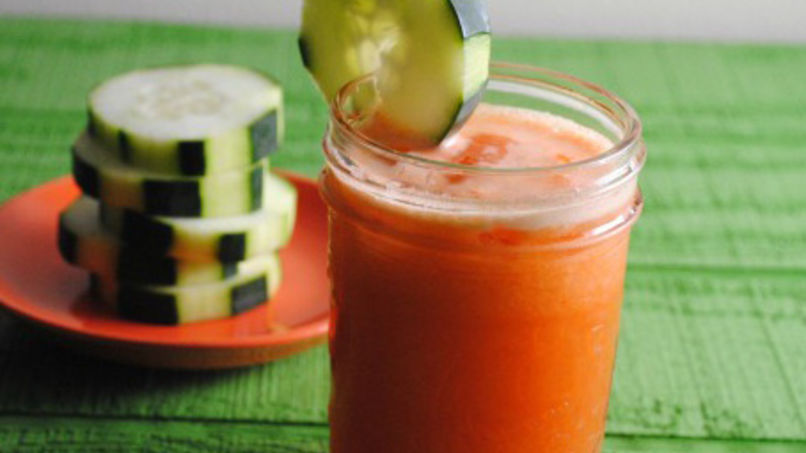 Carrot and Cucumber Agua Fresca