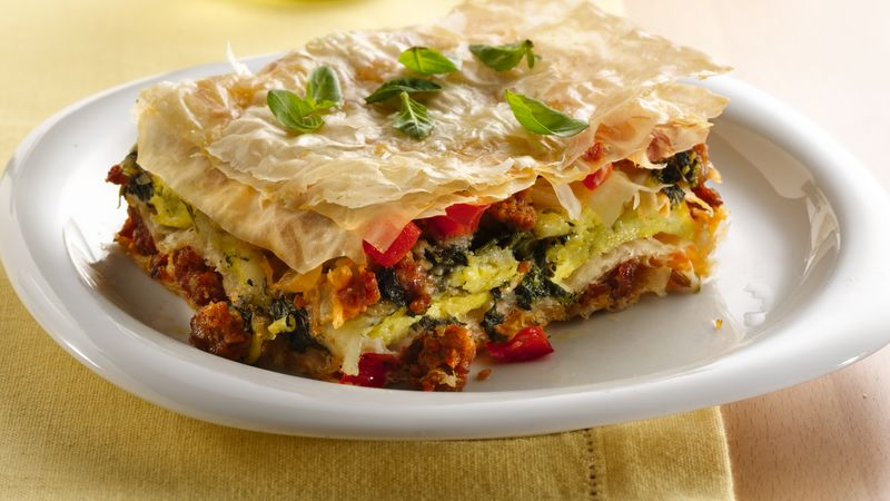 Phyllo Egg Breakfast Torta