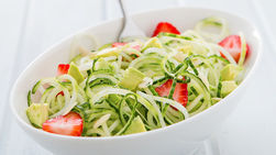 Avocado, Strawberry and Cucumber Salad
