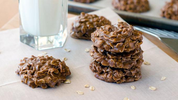 No-Bake Nutella™ Oatmeal Cookies