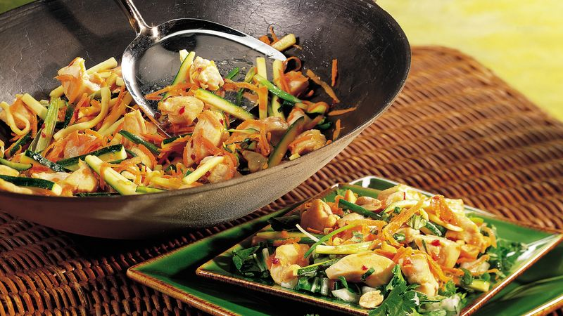 Gluten-Free Stir Fried Thai Chicken Salad