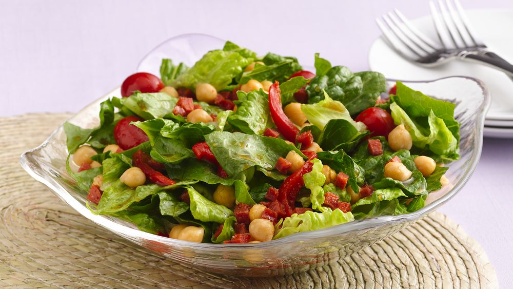 Roasted Pepper and Pepperoni Tossed Salad