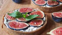 Fig Tartlets with Goat Cheese, Ricotta and Basil