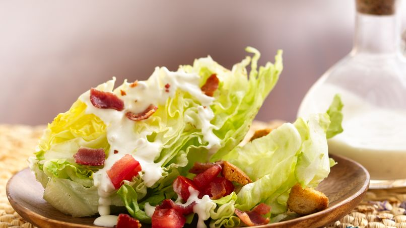 Lettuce Wedge Salad with Blue Cheese Dressing