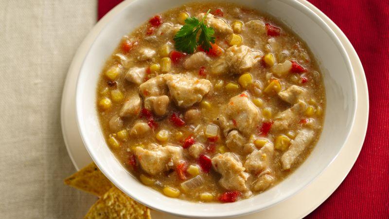 Slow-Cooker White Chicken Chili recipe from Betty Crocker