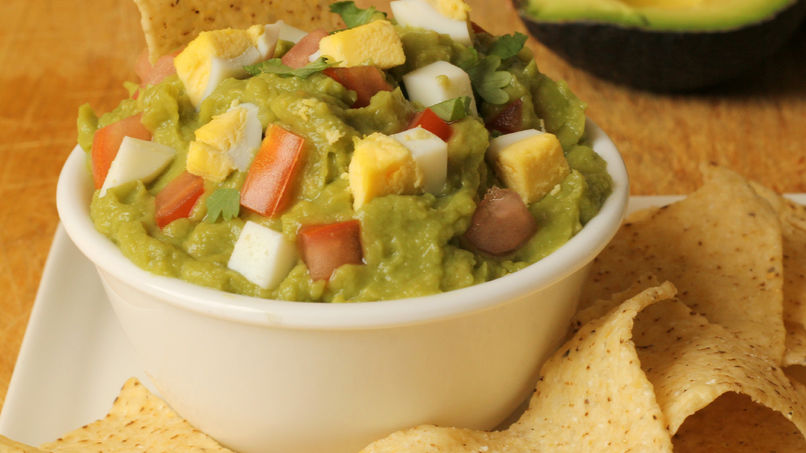 Creamy Guacamole with Hard-Boiled Eggs