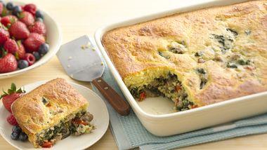 Sausage-Spinach Breakfast Bake