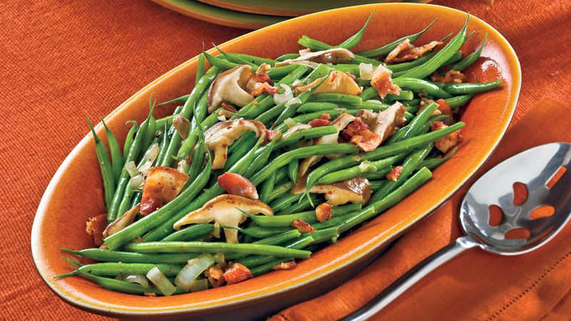 Beans with Mushrooms and Bacon