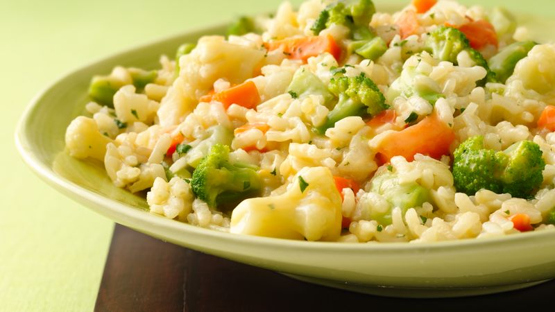 Cheesy Vegetable Risotto recipe from Betty Crocker