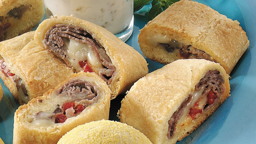 Beef and Cheese Crescent Snacks recipe from Pillsbury.com