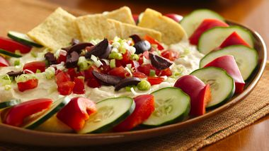 Greek Hummus Dip with Veggie Dippers