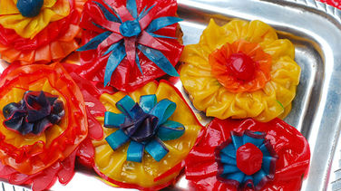 Flowers with Fruit by the Foot™ and Fruit Roll-Ups™