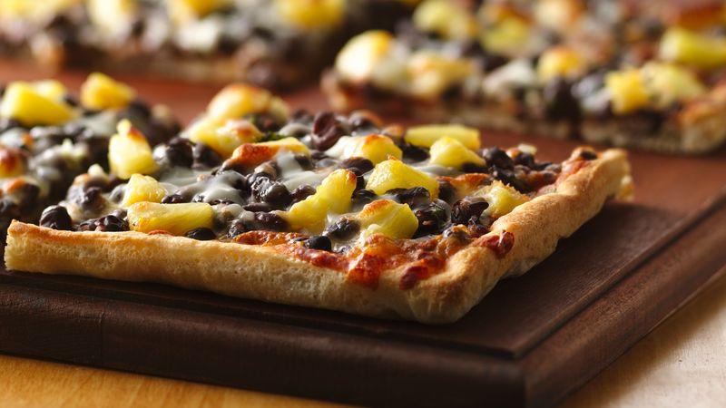 Caribbean Black Bean Pizza