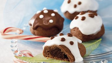 Iced Chocolate Truffle Cookies