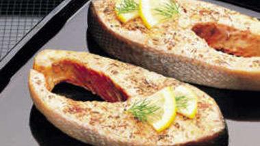 Herbed Salmon Steaks