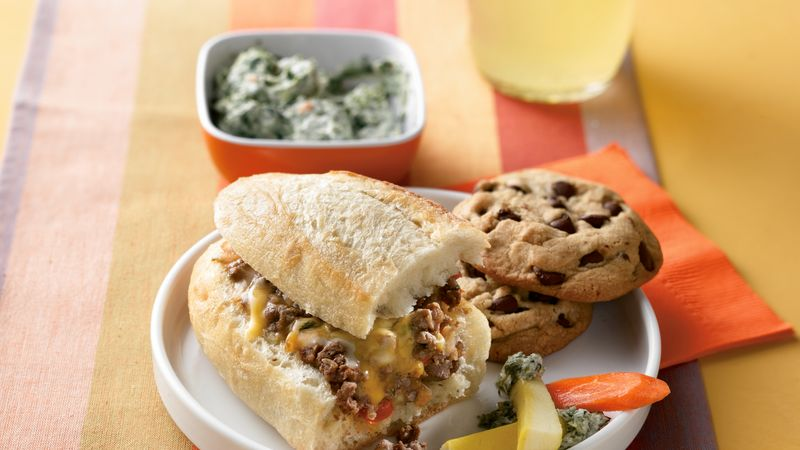 Cheesy Hot Beef Sandwiches