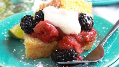 Blackberry and Rhubarb Shortcake