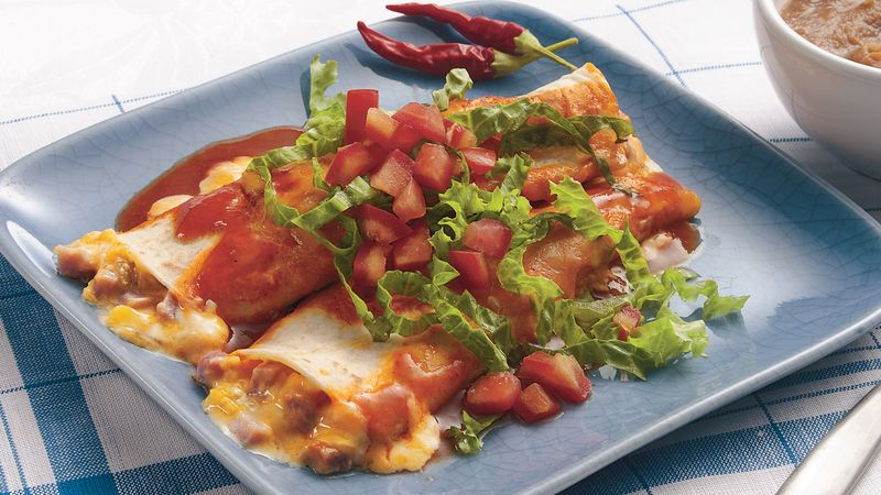 Sour Cream-Ham Enchiladas