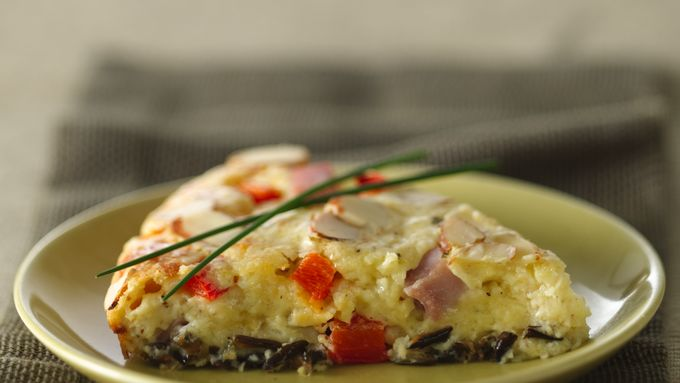 Impossibly Easy Country Dijon Wild Rice and Ham Pie