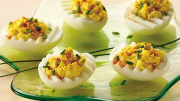 Chive and Onion Deviled Eggs
