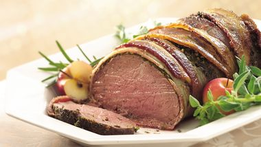 Bacon- and Herb-Crusted Beef Tenderloin