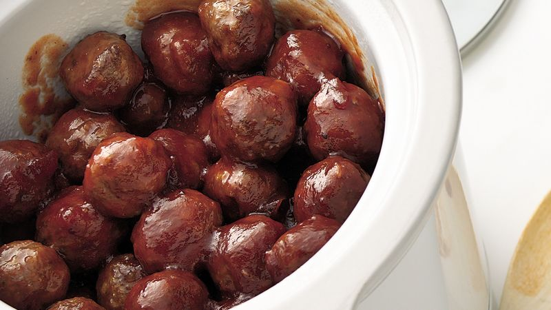 Slow-Cooker Cranberry Barbecue Meatballs