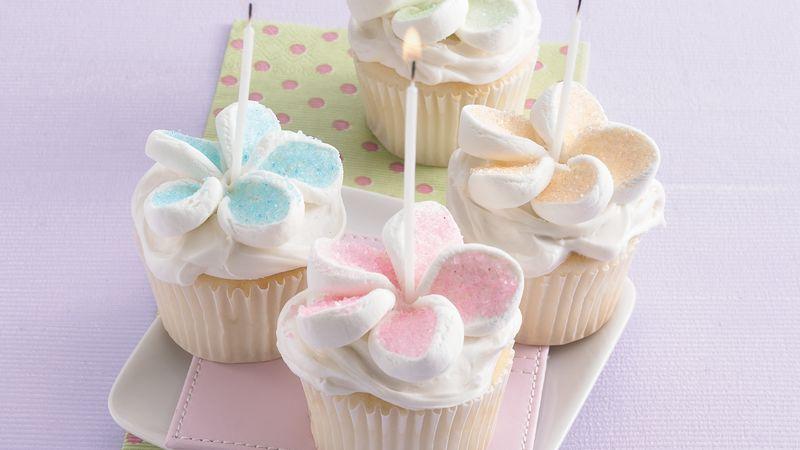 Happy Birthday Marshmallow Cupcakes