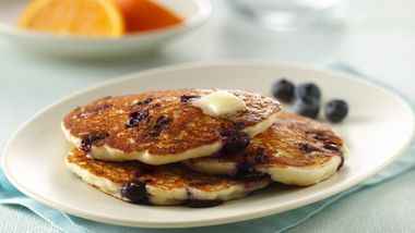 Gluten-Free Blueberry Sour Cream Pancakes