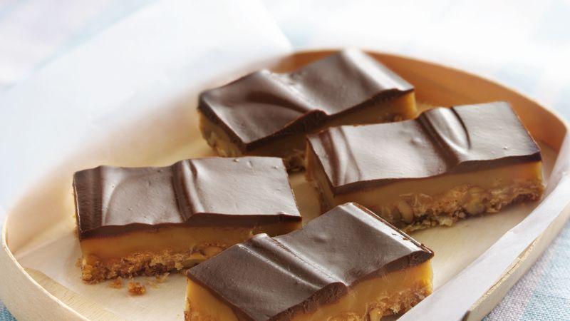 Chocolate Truffle-Topped Caramel Bars