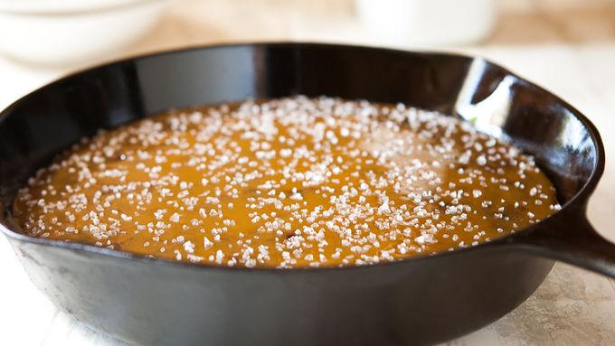 Salted Caramel Skillet Brownie