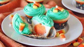 Jack O' Lantern Reveal Cupcakes