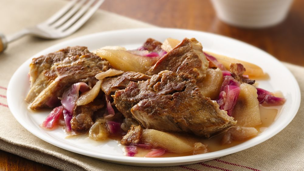 German Red Cabbage and Pork Ribs