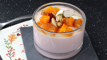 Yogurt and Pumpkin Parfait
