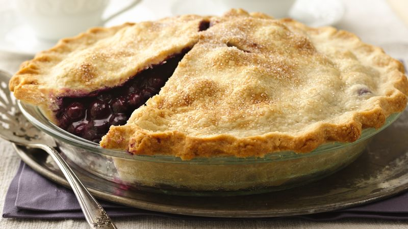 Classic Blueberry Pie recipe from Betty Crocker