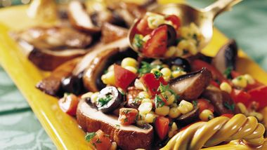 Portabellas with Corn Salsa