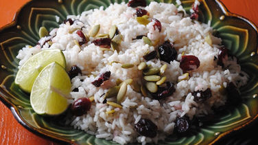Coconut Cranberry Holiday Rice